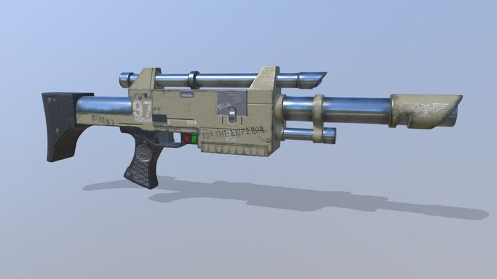 Lasgun 8 pack - Triplex Pattern 3D Model