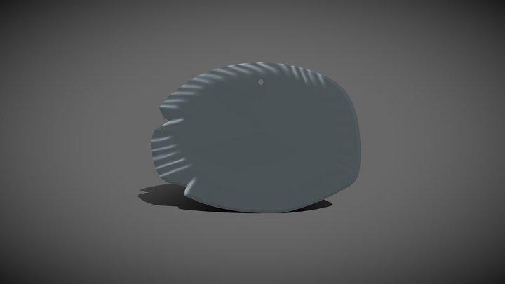 Predynastic Egyptian fish palette 3D Model
