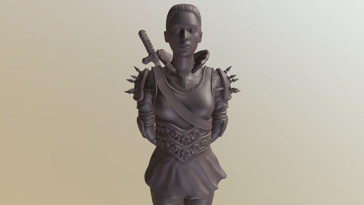 Warrior Girl 3D Model