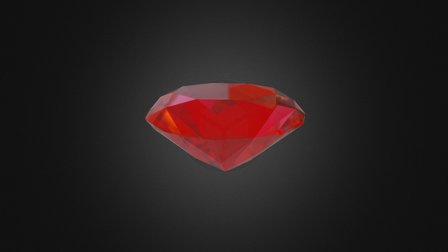 Diamond Cut Ruby 3D Model