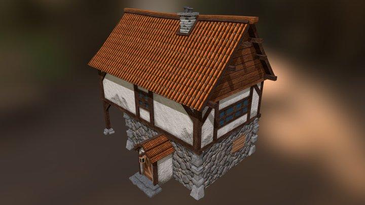 German styled house 3D Model