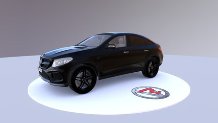 Mercedes-Benz GLE Coupe AMG Line 2014 3D Model