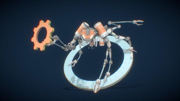 """XYZ School. """"Bzzz"""", Stellar Age fanart 3D Model"""