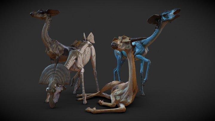 Alien Antelope 3D Model