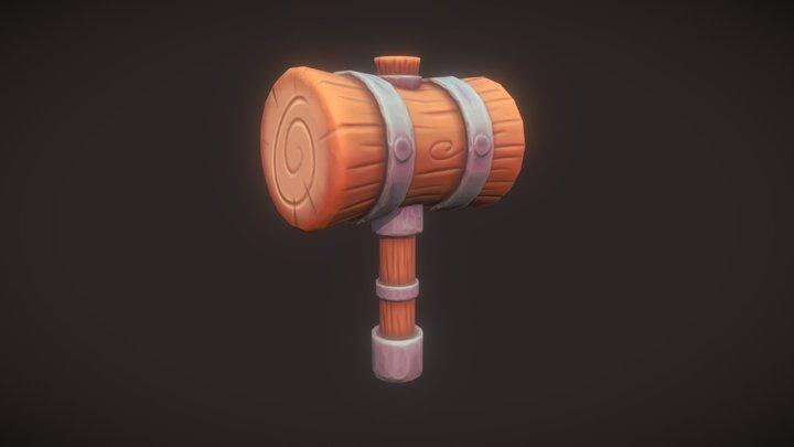 Wooden Hammer 3D Model