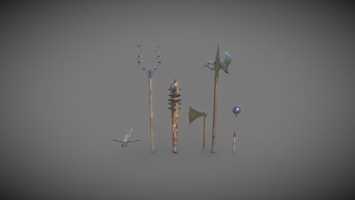 Medieval Weapons Game Ready 3D Model