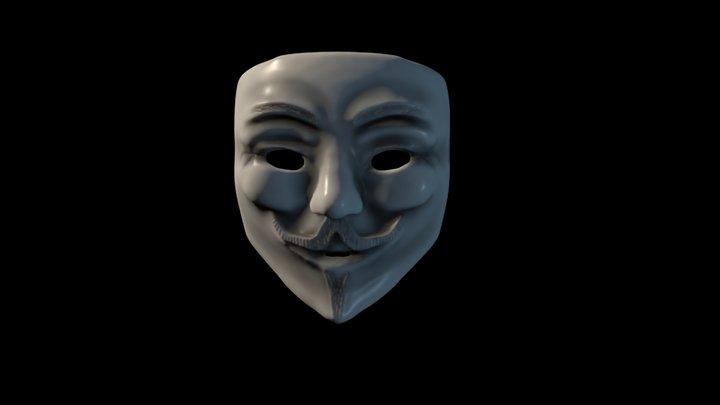 Vendetta Mask - Guy Fawkes Mask 3D Model