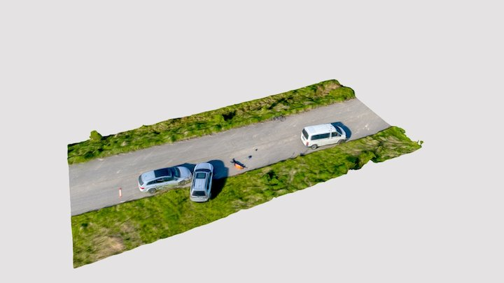 simulation of traffic accident 3D Model
