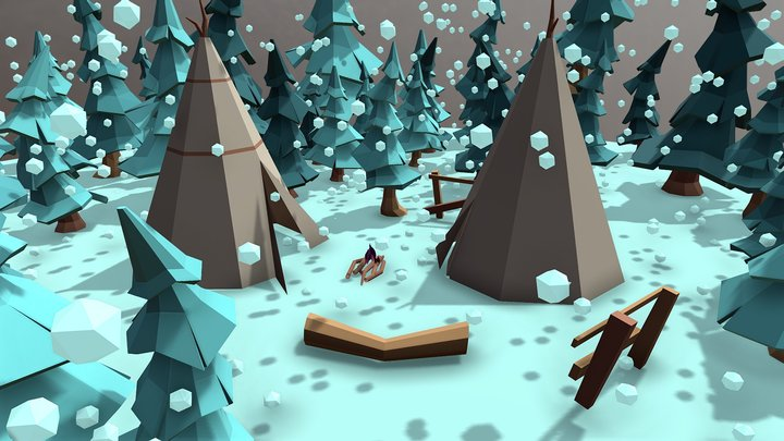 Mysterious forest 3D Model