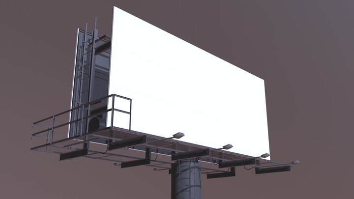 Two-Sided Billboard 3D Model