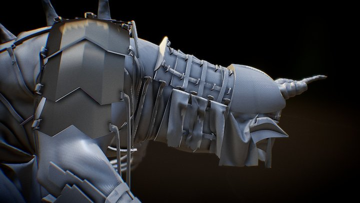 Concept creature Hero 3D Model