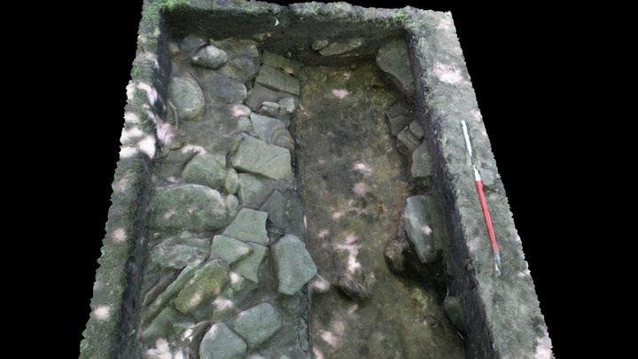 Ogden Water, Calderdale - Roman Road Detail 3D Model