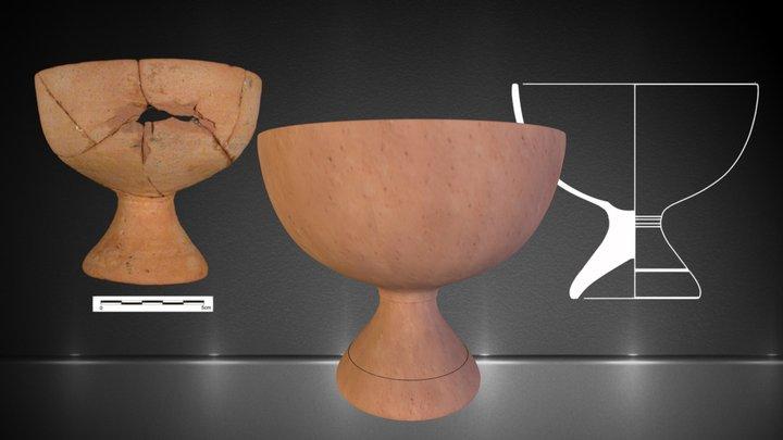 Cálice de Terra Sigillata hispânica tardia 3D Model