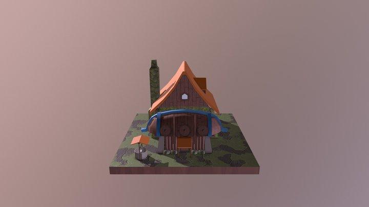 Casa Personagem 3D Model