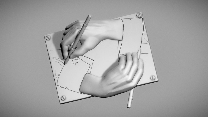 Day 17 of Sculpt January 2019: Hand Pose 3D Model