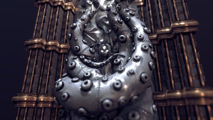Hero & Demon King - Past Demon Queen bas relief 3D Model
