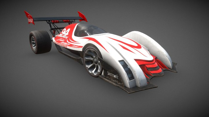 Rocket Racer 3D Model