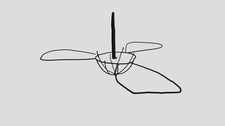 Fan ON 3D Model