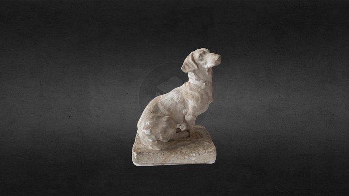 Dog Statue Hollow 3D Model
