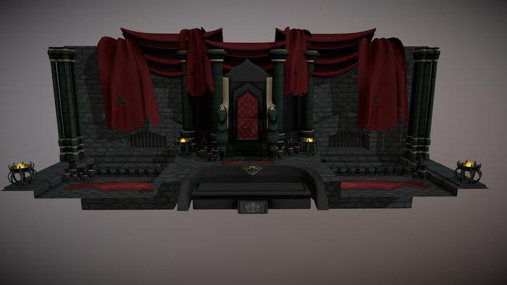 Skeleton Kings Throne Room 3D Model