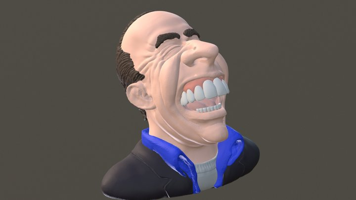 Jerry Seinfeld Caricature 3D Model