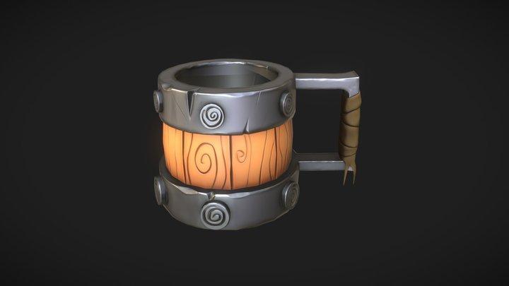 Cartoon Mug 3D Model