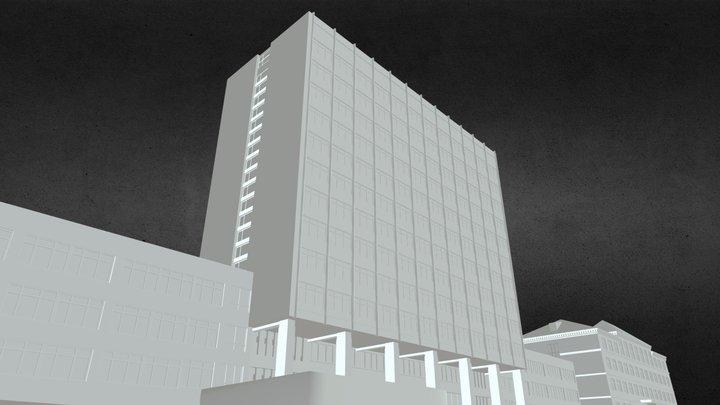 Donetsk National University 3D Model 3D Model