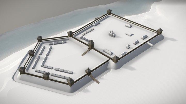 Castle Bila Tserkva early XVII century 3D Model