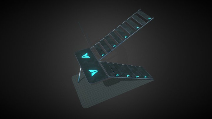 Collapsible Stairs (AIKU) - Animated 3D Model