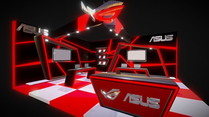 ROG ASUS Booth 3D Model