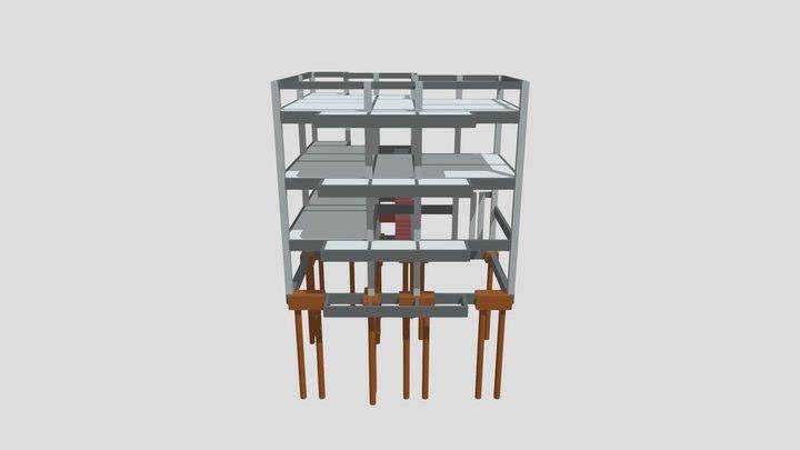 Projeto Estrutural Igreja Assembleia de Deus 3D Model