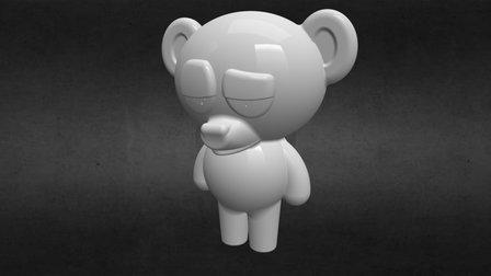 Bear Says Grr 3D Model