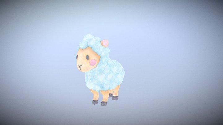 Sheep in children's book 3D Model