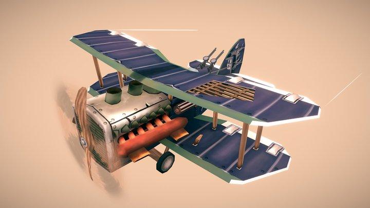 WW1 Airplane - NINAK 3D Model