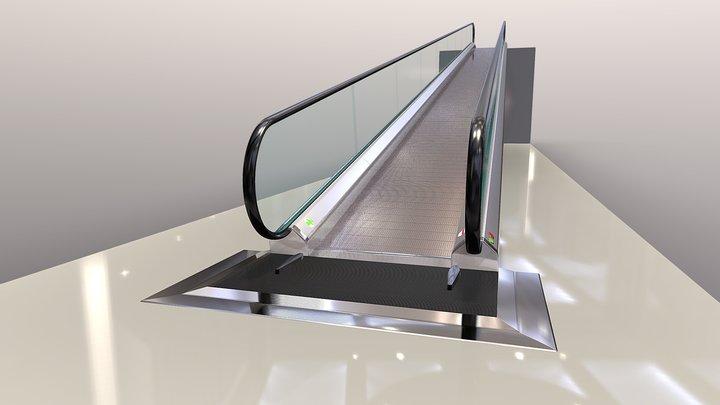 Escalator Flat Stairs, Walkway ,Slide Bridge 3D Model