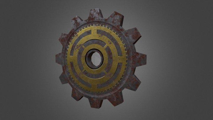 Steampunk Gear 3D Model