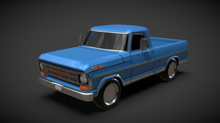 Lowpoly Ford F100 - No Textures 3D Model
