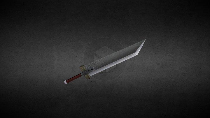 Sword Cloud FFVII - Low Poly 3D Model