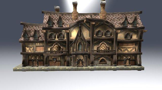 Gilneas Market Quarter House 01 3D Model