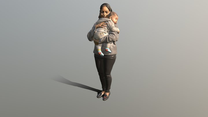 """Mummies embrace"" 3D Model"