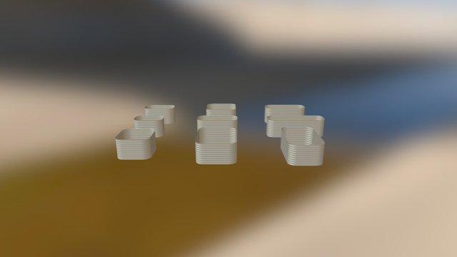 Raised Garden Beds 9 in 1 3D Model