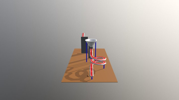 Marble Madness Track 3D Model