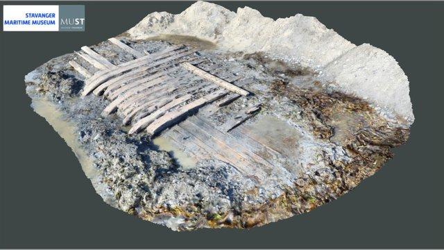 Orresanden wreck medium detail 3D Model