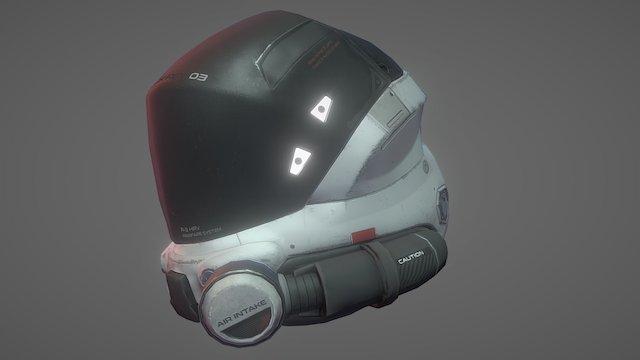 Blacklight ArmetX Helmet 3D Model