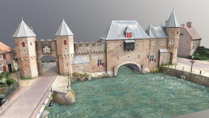 Koppelpoort - Medieval gate in Amersfoort 3D Model