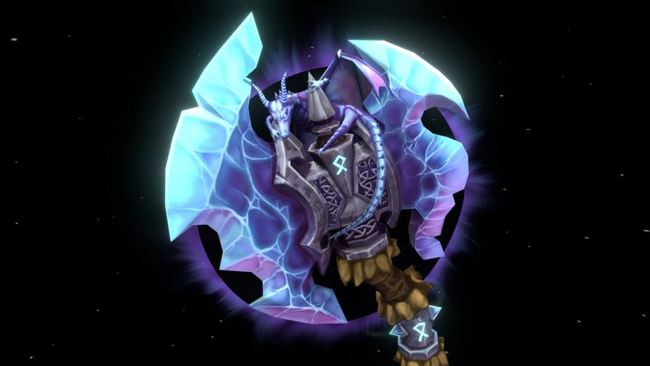 """Weaponcraft Assignment """"Shadowfrost Axe"""" @DAE 3D Model"""