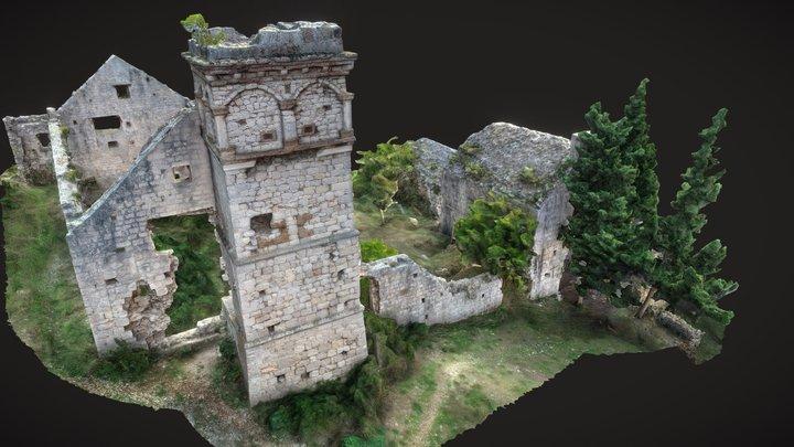 Dominican monastery, island of Šćedro, Croatia 3D Model