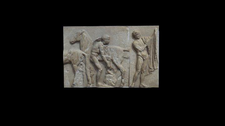 Parthenon West Frieze: XVI and Portion of XV JSW 3D Model