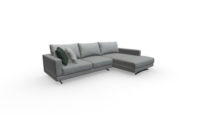 Sofa Waverly Huppe_v1 3D Model