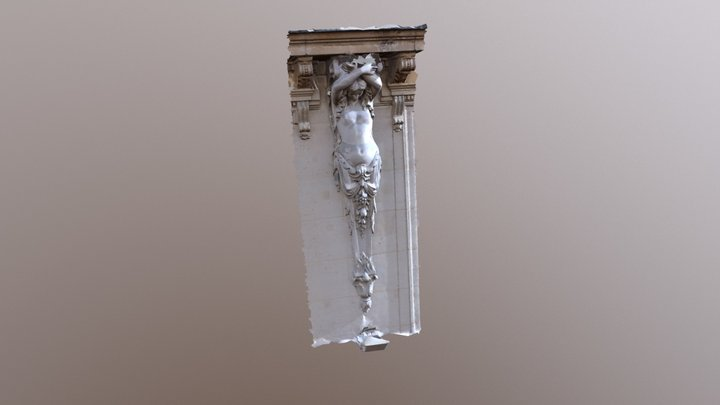 La Madeleine Blvd Pilaster 3D Model